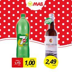 ¡Qué buena oferta para la Feria de Abril! SevenUp (2L) y manzanilla Pérez Megía, una combinación perfecta para que hagas tu rebujito! #oferta #feriadeabril #feriasevilla16