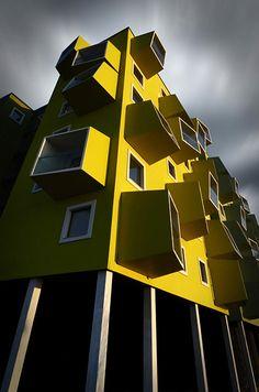 Yellow corner by Dan Clausen Hansen, Kopenhagen #architecture - ☮k☮