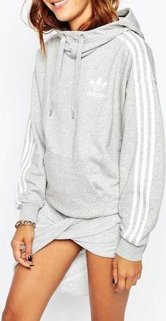Adidas Originals 3 Stripe Pullover Hoodie as seen on Khloe Kardashian