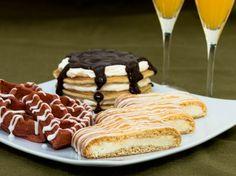 Red Velvet Waffles, Tiramisu Pancake Stack, and Cream Cheese Danish.