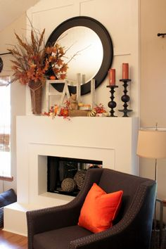 Tutorial for those FALL letters on mantel at: Sweet Something Designs