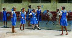 Chinese Skip 6 Chinese Jump Rope, Caribbean Art, Expressive Art, West Indian, Art For Kids, Art Children, Black Art, Figurative Art, American Art