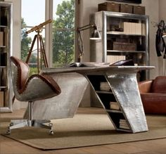 ofisiniz icin siradisi masalar calisma odasi mobilyalari vintage retro endustriyel modern tasarimlar (14)
