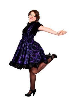 Plus Size Gothic Lolita Dress Purple Steampunk Jumper - Custom to your size 3X-5X. $145.00, via Etsy.