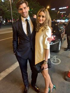 Olivia Palermo oh yes she is , she has the great clothes and the great looking hunk..model,