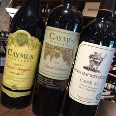 Caymus! 2013 Cabernet Sauvignon and 2012. Also a 100 Point Wine from @stagsleapwinecellars ! The 2012 Cask 23 got rated 100 Points by Parker