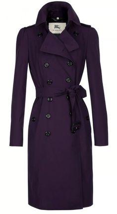 Purple Burberry Trench Coat- Love Love Love!!!