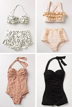 Old fashion bathing suits <3