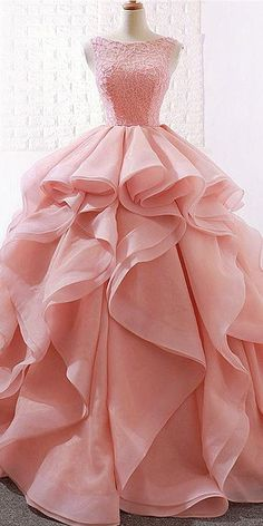 Alluring Lace & Organza Satin Jewel Neckline Ball Gown Wedding Dresses With Beadings - NEW! Alluring Lace & Organza Satin Jewel Neckline Ball Gown Wedding Dresses With Beadings Source by - Long Gown Dress, Ball Gown Dresses, Party Wear Dresses, Evening Dresses, Prom Dresses, Pink Ball Gowns, Dress Formal, Dress Prom, Dress Outfits