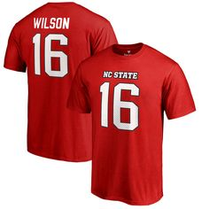 Russell Wilson NC State Wolfpack Fanatics Branded Big & Tall College Legends Name & Number T-Shirt - Red - $37.99
