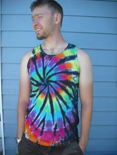 Men s tie dye tank top with black accents Black Accents 3191bb4b27ff
