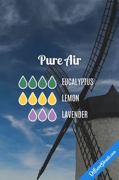 Pure Air Essential Oils Diffuser Blend with Lemon, Lavender and Eucalyptus