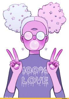 Steven universe, fandom, Garnet (SU), SU Characters, SU art, faeri-sami