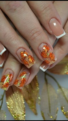 Thanksgiving nails inspiration is vital. This thanksgiving nail design is perfect for mature ladies, Thanksgiving nail arts are a favorite trend today. Gradient Nail Design, Nail Design Spring, Fall Nail Art Designs, Nail Design Video, Pretty Nail Designs, Thanksgiving Nail Designs, Thanksgiving Nails, Cute Nails, Pretty Nails