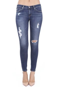AG Jeans Official Store, The Legging Ankle - 7 Years Break Me Down, Women's the Legging Ankle, Ag Jeans, Jeans And Sneakers, Ankle Jeans, Blue Jeans, Cropped Skinny Jeans, Ripped Jeans, Striped Sandals, Mother Jeans, Christian Louboutin So Kate