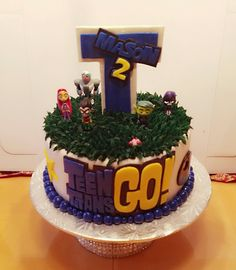 Teen Titans Go Birthday Cake