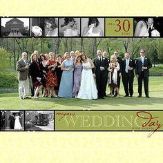 Wedding Scrapbook Layout Ideas: Wedding Collage Layout