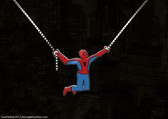 Spider-Man-Necklace-60s-era-mid-swing-cartoon-geek-bling-davesgeekyideas