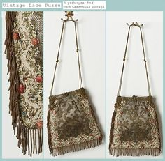 seedhouse vintage lace purse