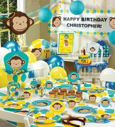 17 Boy First Birthday Themes Monkey Parties