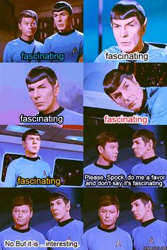 Fascinating. #spock #fascinating #startrek Click to see full gif!