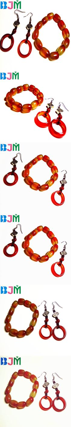 Spinner Islamic Fashion Jewelry Muslim Allah Bracelet Set With Howlite / Jadee / Riverstone Fossil / Red Agat Beads BEST97112