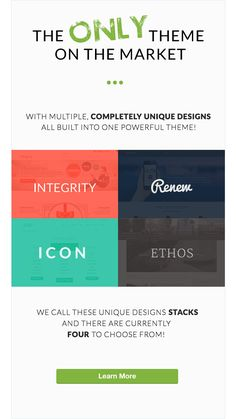 "X WordPress Theme – OverviewStacks – X includes multiple unique designs inside of one powerful theme, and we refer to these designs as ""Stacks."" There are currently four Stacks available..."