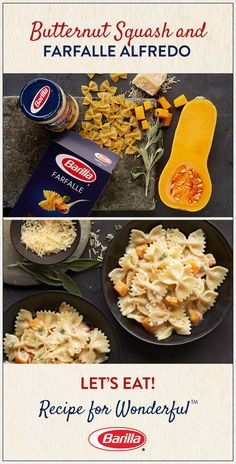 This easy-to-follow recipe combines 5 of our favorite fall ingredients: alfredo sauce, butternut squash, farfalle pasta, fresh sage and a sprinkle of Parmesan cheese.