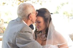 Grandpa and granddaughter on her wedding day.. What a special moment
