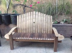 Bourbon Barrel Furniture, Outdoor Chairs, Outdoor Furniture, Outdoor Decor, Wine Barrel Crafts, Rockers, Benches, Ideas, Home Decor