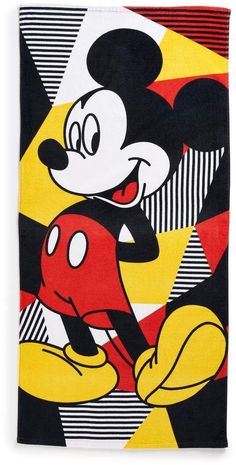 Disney's Mickey Mouse Beach Towel by Jumping Beans - Fotos Do Mickey Mouse, Mickey Mouse Pictures, Mickey Mouse Cartoon, Mickey Mouse And Friends, Mickey Minnie Mouse, Mickey Mouse Wallpaper Iphone, Cartoon Wallpaper Hd, Cute Disney Wallpaper, Mickey Mouse Background