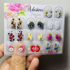Manicures, Nails, Girl Backpacks, Design, Nail Jewels, Nail Stickers, Flower Nails, Chic Nails, Cute Nails