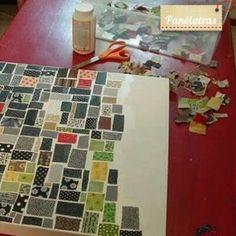 Eu amo costurar | Tutorial – Quadro de mosaico