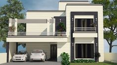 400 sq yard house plans design with 4 bedroom and attached 4 bathrooms Free House Design, Duplex House Design, House Front Design, Small House Design, Modern House Design, My House Plans, Modern House Plans, Small House Plans, Morden House