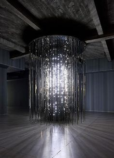 Leo Villareal - Volume LED nodes suspended in a matrix of mirror-finished stainless steel [Light Art - Light Installation - Light Painting - Light Exibithion] Light Art, Art Deco, Led, Hayward Gallery, Instalation Art, Light And Space, Luminaire Design, To Infinity And Beyond, Land Art