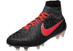 8cb25d2277f1 Nike Womens Magista Obra FG Soccer Cleats - Black   Bright Crimson -  SoccerPro.com