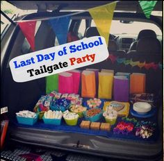 "Make your kid's last day of school even better with a ""Last Day of School Tailgate Party"""