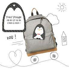A-qui-Bag : nouveau les pingouins sont de sortie :) 5.90€ l'étiquette personnalisée (port compris)