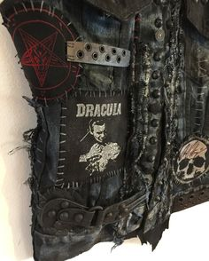 Custom Clothing from Chad Cherry Clothing. Rocker vest. Distressed vest. Denim vest.