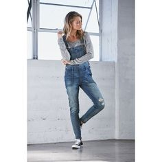 Bullhead Denim Co. Dairy Blue Ripped Utility Overalls ($65) ❤ liked on Polyvore featuring jumpsuits, rompers, indigo blue, blue overalls, overall, cotton overalls, blue bib overalls and blue rompers