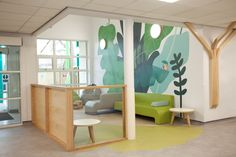 Boex provided interior design services to Oxleas NHS Foundation Trust for their new Children's Services department. Clinic Interior Design, Interior Desing, Clinic Design, Healthcare Design, Medical Design, Modern Interior, Waiting Room Design, Waiting Area, Design Scandinavian