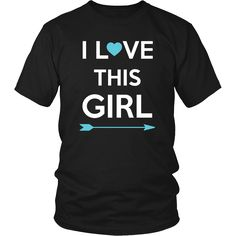 I love this Girl Couple 16 Male Valentine´s Day T-shirt