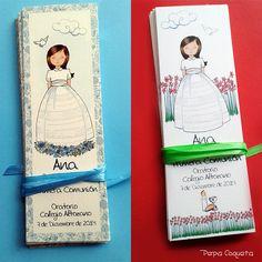 Recordatorios. Todo a juego y personalizado. Pepa Coqueta Comuniones http://pepacoqueta.blogspot.com.es/p/comuniones.html