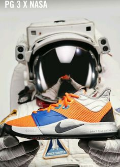 """9132b39e1340 AUTHENTIC LIMITED EDITION Nike PG 3 """"NASA"""" Size 12 Men s"""