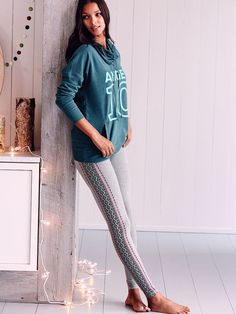 See? Even leggings have a festive side. We like ours with a stripe of Fair Isle. | Victoria's Secret The Everywhere Legging