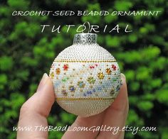 Beaded Christmas Ornament or Ball with Swarovski Crystals - Crochet PDF File TUTORIAL - Vol.4 - Crystal Rainbow. $8.50, via Etsy.