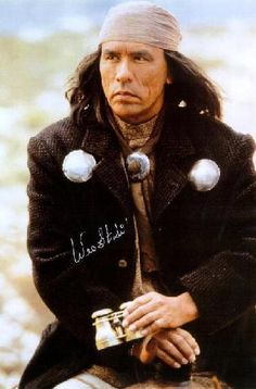 Wes Studi is a full-blooded Cherokee who spoke only Cherokee until he went to school. After serving in Vietnam, he returned to Oklahoma where he worked as a reporter for The Cherokee Advocate. He became involved with the American Indian Movement and was at Wounded Knee in 1973. His interest in acting was spurred by his involvement with the American Indian Theatre Company in Tulsa. Studi then moved to Los Angeles and got small parts in television and movies.