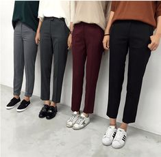 Trendy Ideas For Sneakers Outfit Women Black Street Style Outfits, Mode Outfits, Casual Outfits, Fashion Outfits, Fashion Clothes, Dress Outfits, Dress Pants, Slacks Outfit, Prom Dresses