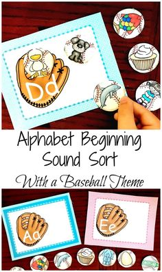 Get a FREE Baseball Alphabet Beginning Sound Sort to work on beginning sounds, letter recognition, and vocabulary all with a fun baseball theme.