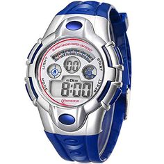 Digital Waterproof Backlight Sport Kids Wristwatch Boys Watch -- You can find out more details at the link of the image.